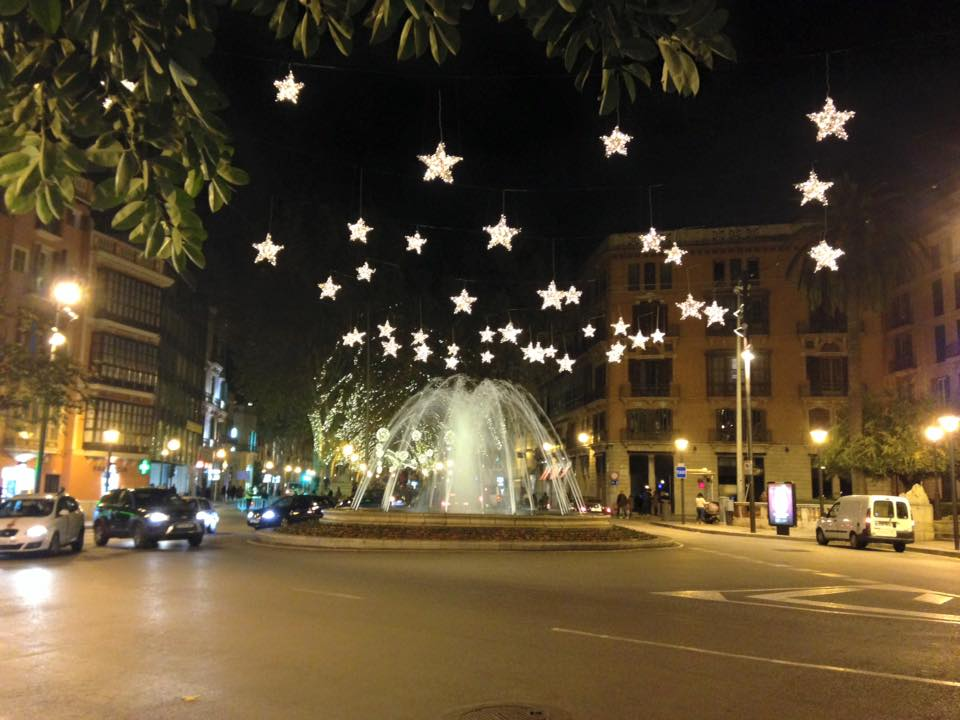 At Christmas time, Mallorca's capital Palma is festively decorated.