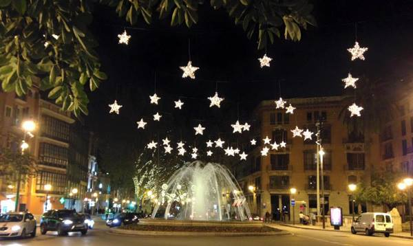 Christmaslights in Palma
