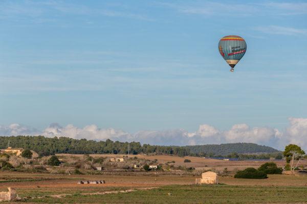 Balloonflight over beautiful Mallorca