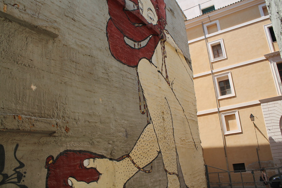 Big graffiti next to the Teatre Xesc Forteza