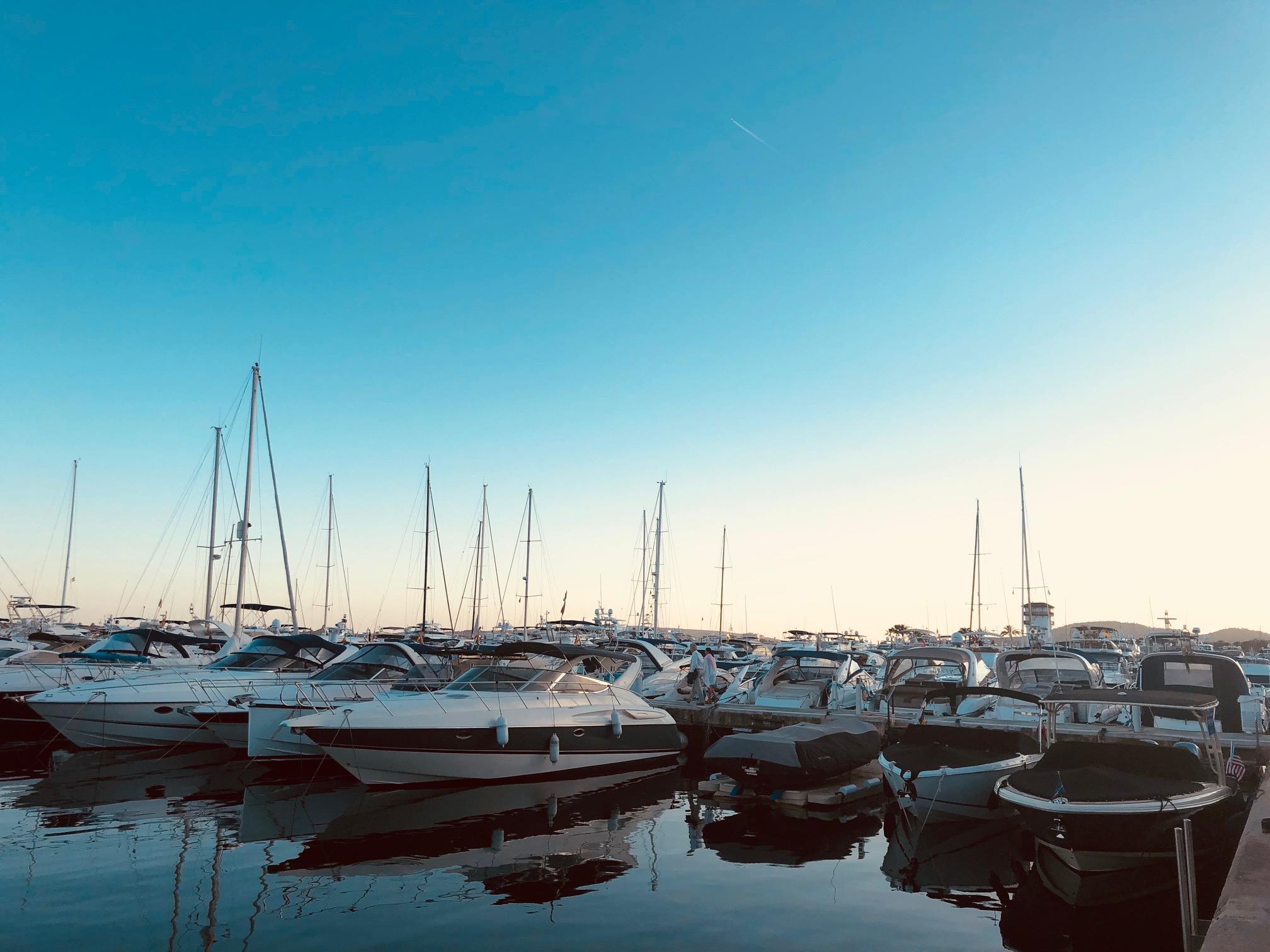 The famous marina of Puerto Portals is the landmark of Portals Nous.