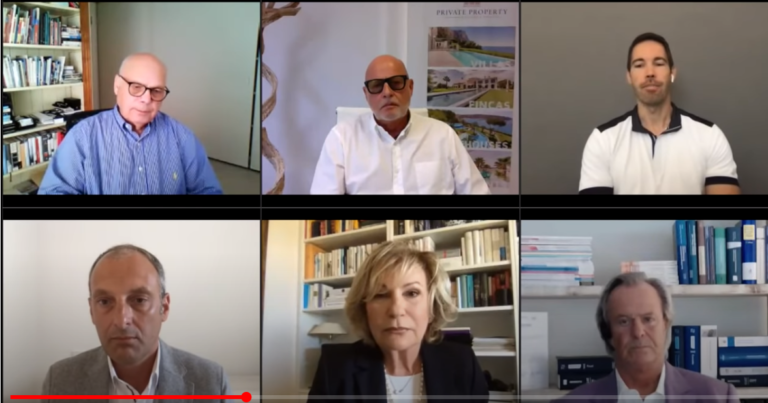 The Mallorca real estate experts (l to r), above: Lutz Minkner, Andreas Dinges, Timo Weibel. Below: Hans Lenz, Sabine Christiansen and Willi Plattes.Pictures: Youtube/European@ccounting.