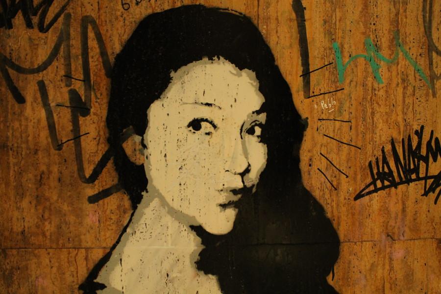 Stencil Art in Palmas Zentrum