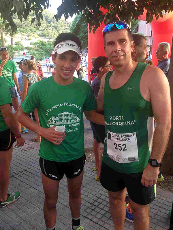The Porta Mallorquina Southwest licence partner, John van Eenennaam (shown on right with the race winner, Abdessi Rja) also took part in the race.