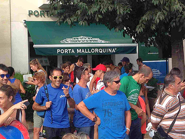 The race took place in front of the  Porta Mallorquina office in Pollença.