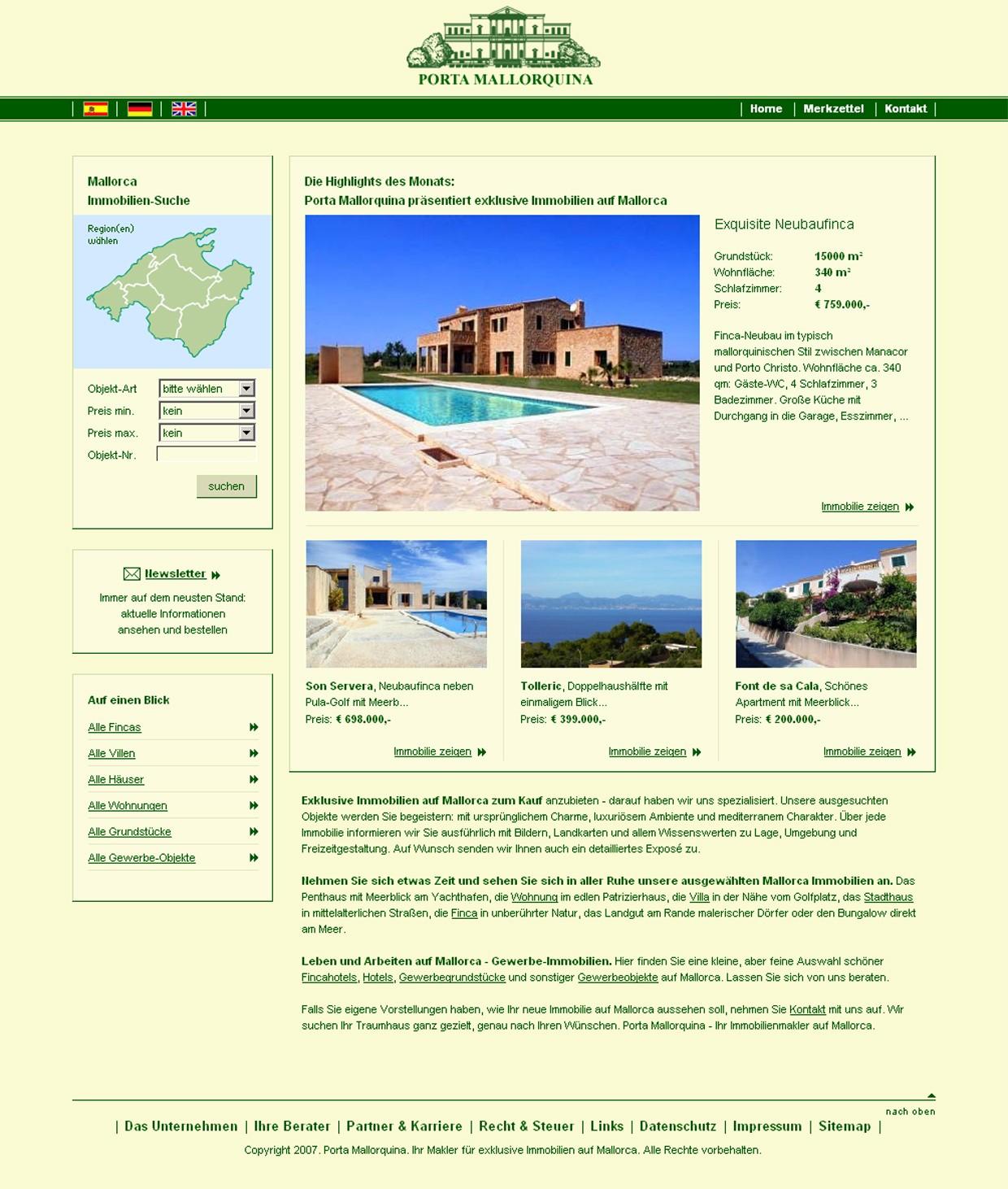 sito web antiguo de Porta Mallorquina