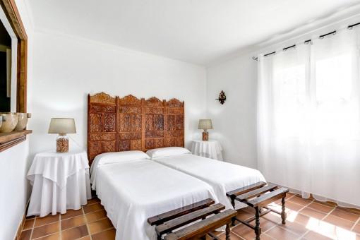 Guest bedroom of the finca