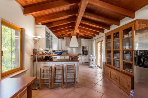 Capacious kitchen area