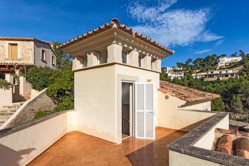 Sunny roof terrace