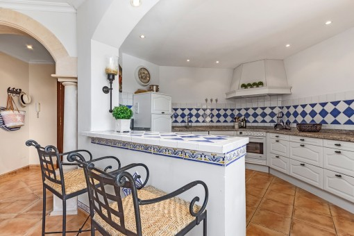 Fully equipped kitchen in mallorquin style