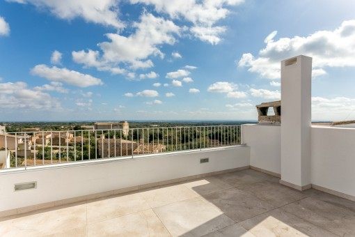 Fantastic roof terrace with views