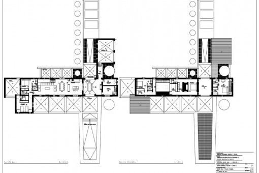 Floor plans of the finca