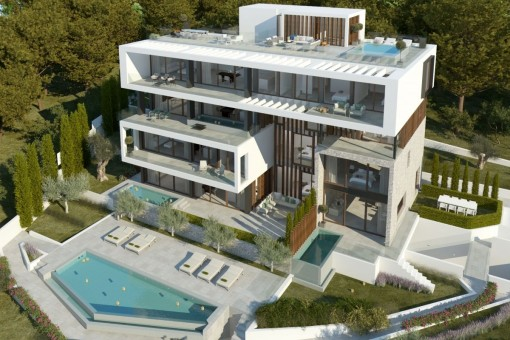 The apartment will have its own, private pool on the terrace