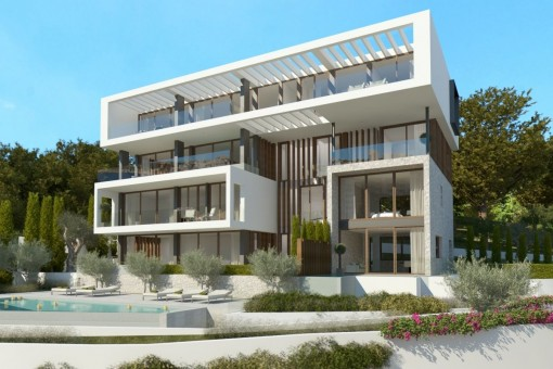 The newly-built complex will have a very modern design