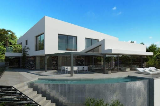 Beautiful villa-project in Costa d'en Blanes with views of the marina of Portals