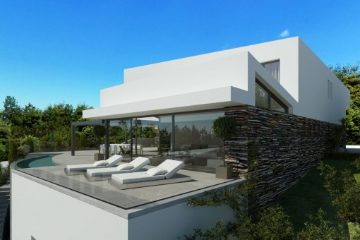The project contains a fantastic terrace with pool