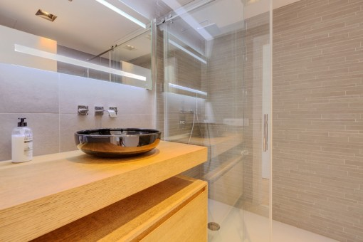 Bathroom with walk-in shower