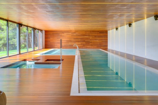 Alternative view of the indoor pool