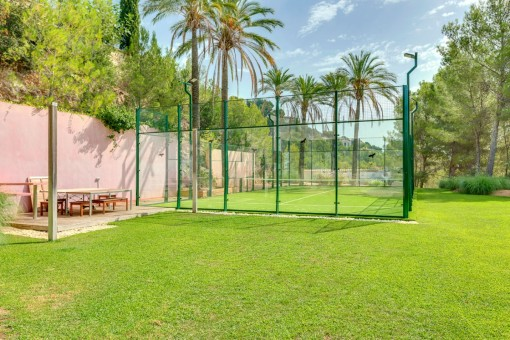 Padel field in a green area