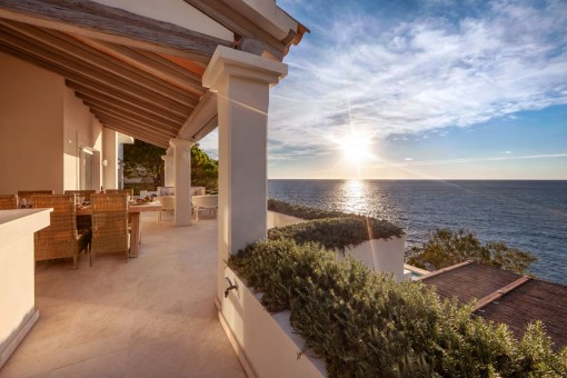 Beautiful terrace with gorgeous sea views