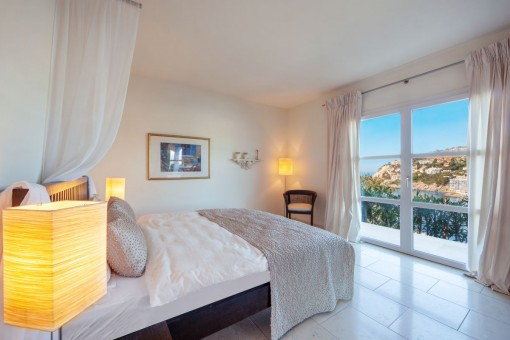 Further bedroom with sea views