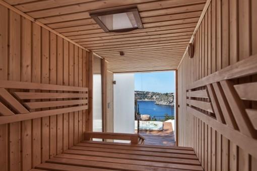 Attractive sauna
