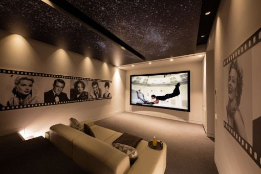 Attractive home theater