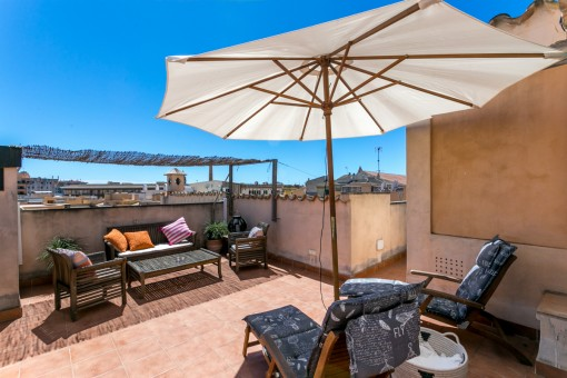 Attractive old-town apartment with private roof top terrace in Palma