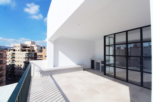 Beautiful penthouse over the rooftops of Son Armadams