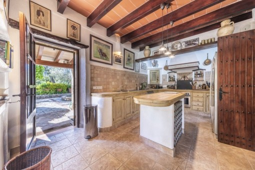 Rusic country-style kitchen