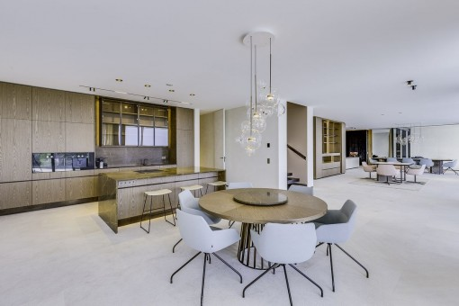Luxurious living area with kitchen