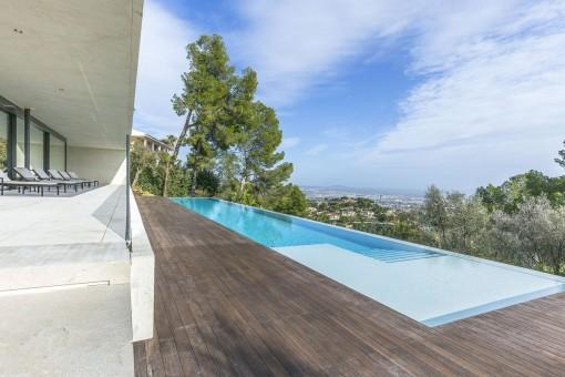 Pool with impressive views
