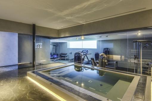 Welness- and fitness area