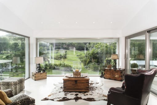 Chill out area with panoramic windows