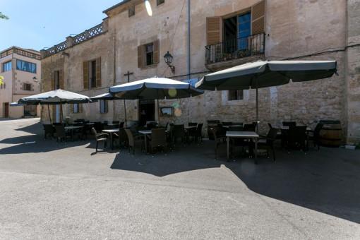 Outdoor area of the restaurant