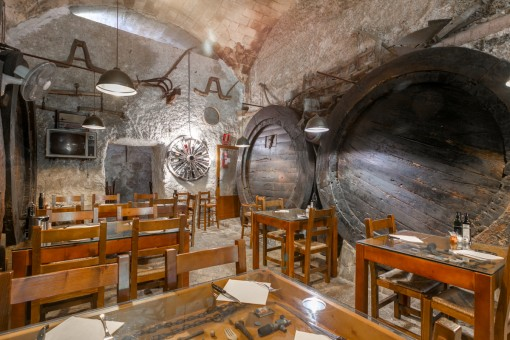 Alternative view of the wine cellar