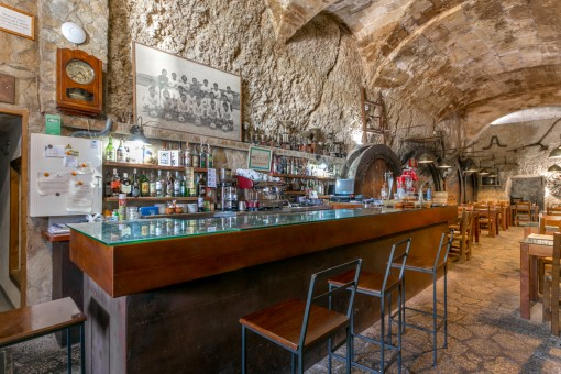 Rustic cellar bar