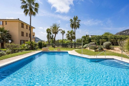 Bright ground-floor apartment in a popular residential complex in Port Andratx, Mallorca