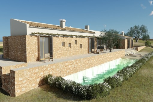 Newly-built finca project with wonderful views, key-in-hand, in Sineu