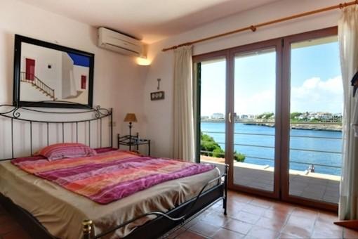 Master bedroom with sea views
