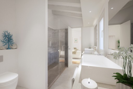 Noble bathroom with walk in shower