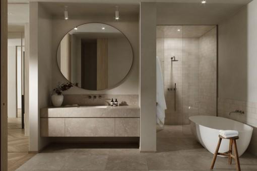 Elegant bathrooom with bath tub