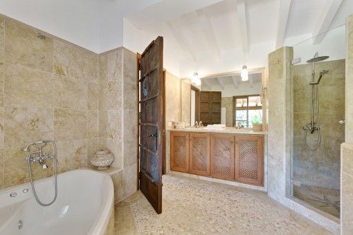 Renovated shower bathroom