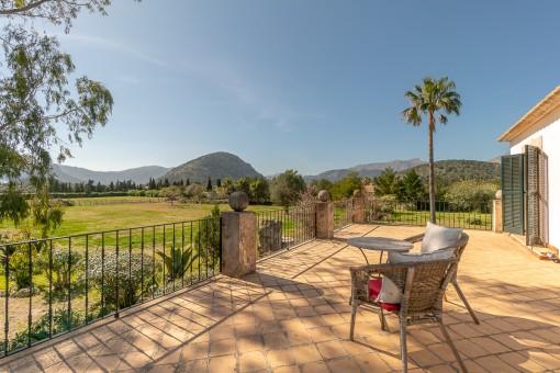 View to the mountain Puig de Maria