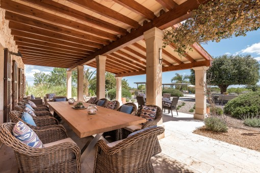 Idyllic terrace with dining area