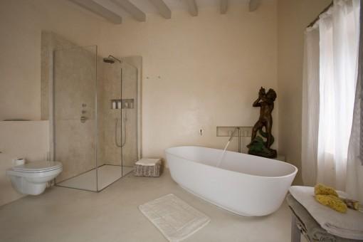 Modern bathroom with tub