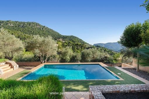 Swimming pool with fantastic views to the nature