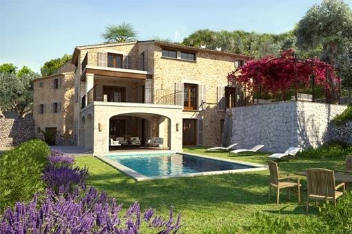 Pool in the idyllic garden