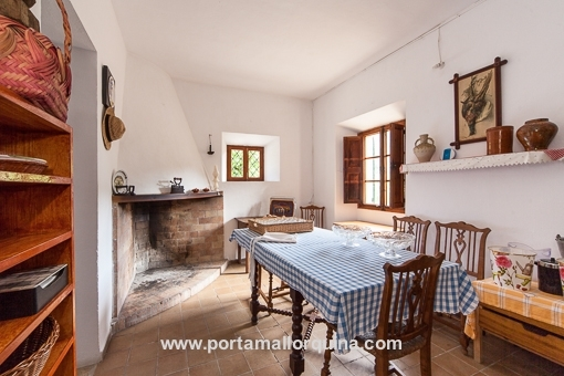 Traditional Majorcan kitchen