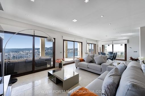 Bright and modernly designed living room
